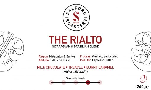 Rialto Nicaraguan and Brazilian blend coffee